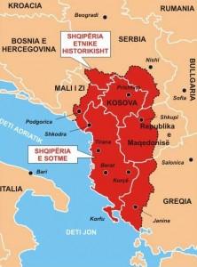 Mapa de La Gran Albania