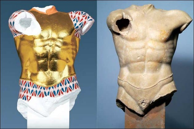 Recreation on how this greek sculptures must have been look like in ancient times.