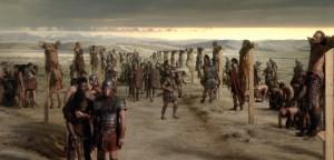 La crucifixión de los esclavos de Espartaco