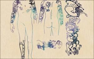 Detalle de los tatuajes
