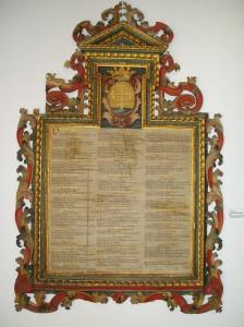 Tabla de los Diezmos eclesiásticos