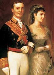 Alfonso XII con María de las Mercedes