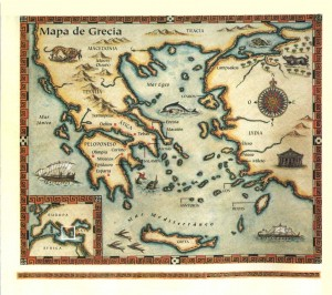 Mapa de la Grecia Antigua