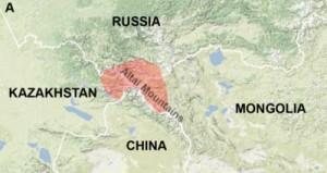 La Princesa Escita de Ukok: Mapa de la Zona