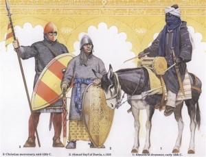 El Cid Campeador, Soldados y equipamiento de la época
