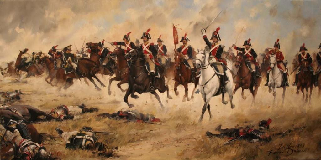 Batalla de Bailén: las heroicas mujeres de Bailén, ilustracion de Ferrer Dalmau