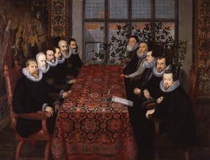 Contrarmada: delegaciones españolas e inglesas firmando el Tratado de Londres favorable a España