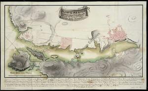 La reconquista de Mahón: plano de defensas y lugares de desembarco
