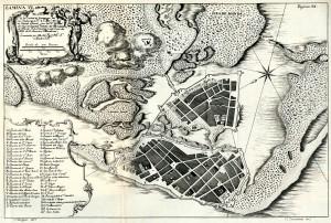 Plano de Cartagena de las Indias
