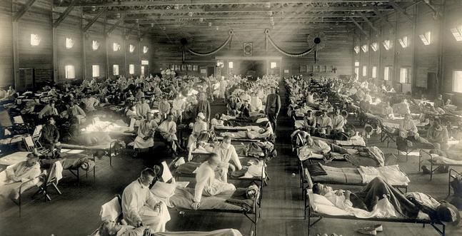 La gripe española de 1918, mas de 50 millones de muertos
