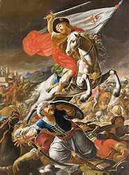 Santiago en la Batalla de Clavijo