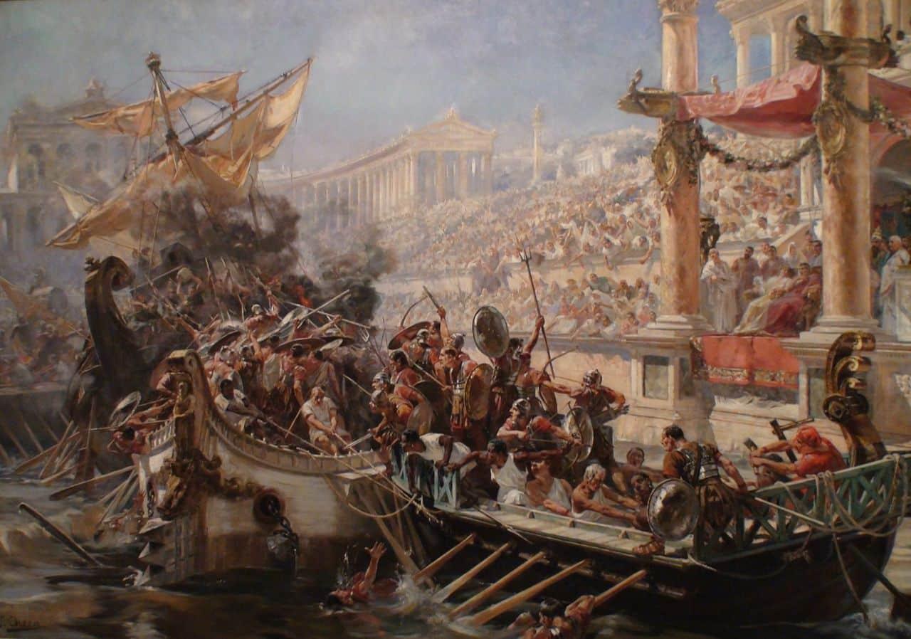 Las Naumaquias, el cine bélico de la Roma Antigua