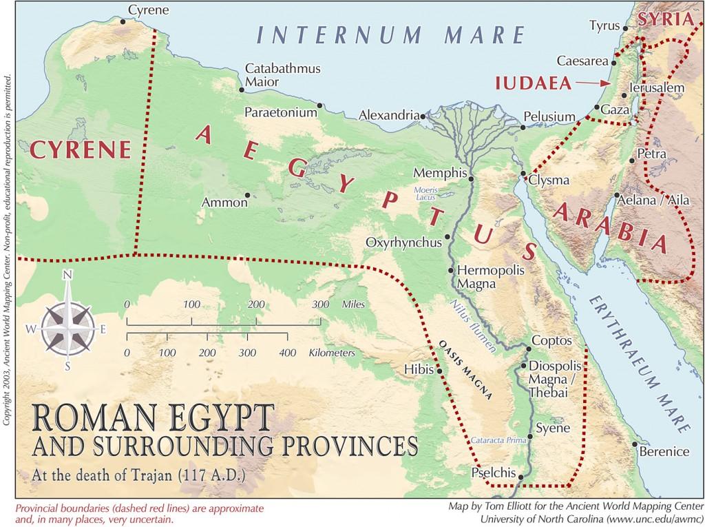 Las Fuentes del Nilo, la Provincia Romana de Egipto