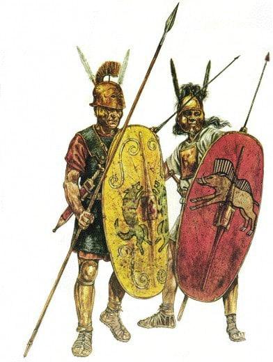 Armamento de las Legiones Romanas, Hastae