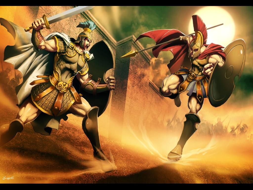 Ilíada, héroes, armas y dinámica de combates