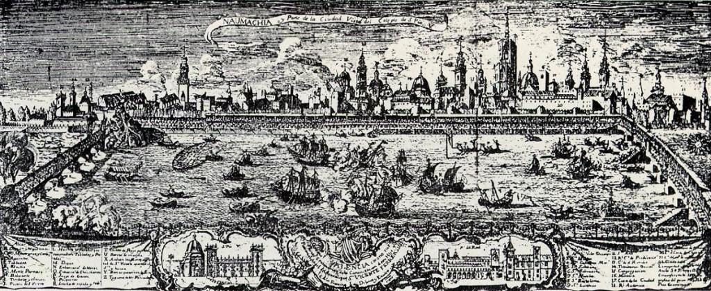 Las Naumaquias, Naumaquia de Valencia en 1755