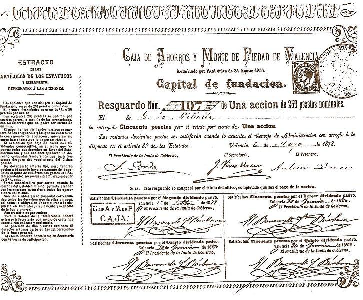 Burguesía valenciana, Resguardo de una acción fundacional de la Caja de Ahorros y Monte Piedad de Valencia