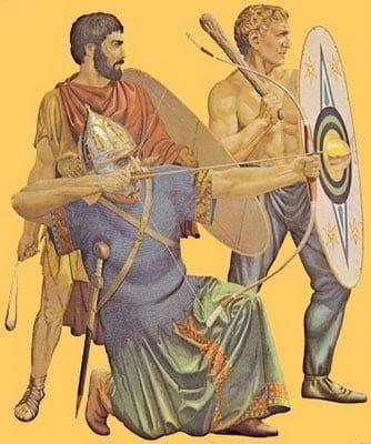 Formaciones y Tácticas del Imperio Romano, tropas auxiliares Romanas