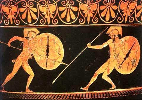 Ilíada, héroes, armas y dinámica de combates, Aquiles y Héctor