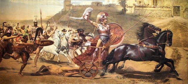 Ilíada, héroes, armas y dinámica de combates, Aquiles victorioso