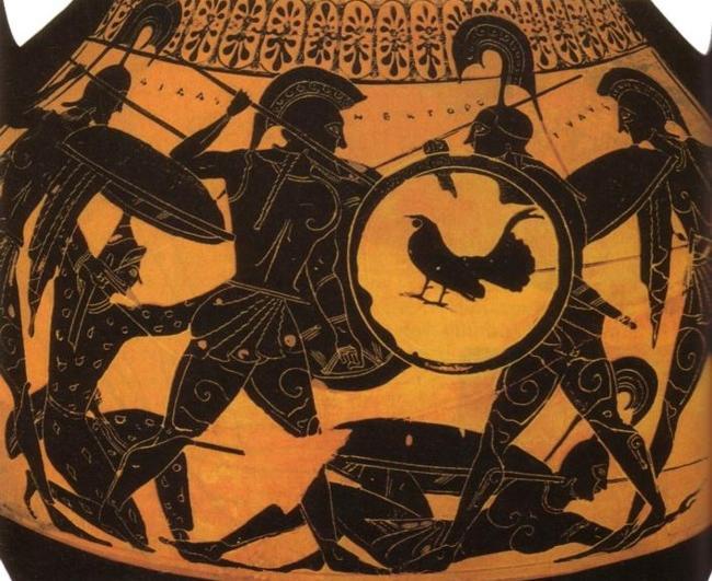 Ilíada, héroes, armas y dinámica de combates, Héctor y Áyax
