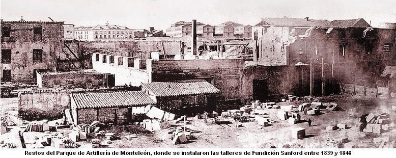 Daoíz y Velarde, Restos del Parque de Artillería de Monteleón