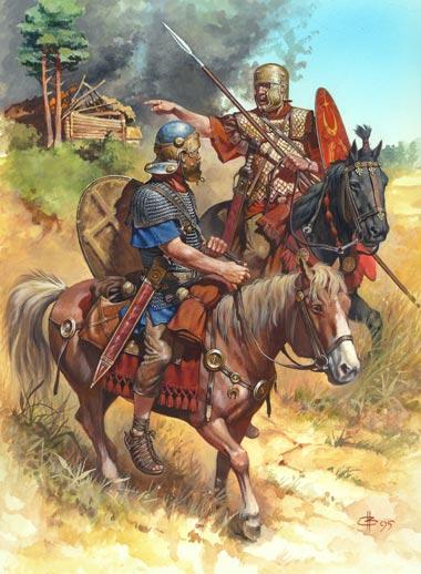 Armamento de las Legiones Romanas, caballería romana