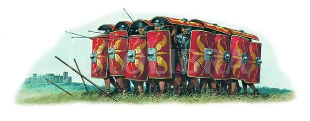Formaciones y Tácticas del Imperio Romano, testudo