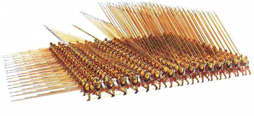 El ejército macedonio. La creación de Filipo II. Falange.
