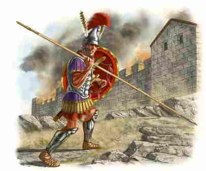 El ejército macedonio. La creación de Filipo II. Hipaspista