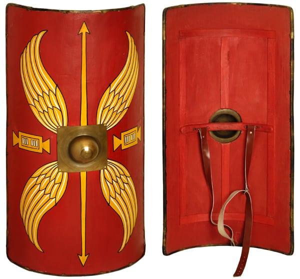 Armamento de las Legiones Romanas: escudos y armaduras, Scutum0-p