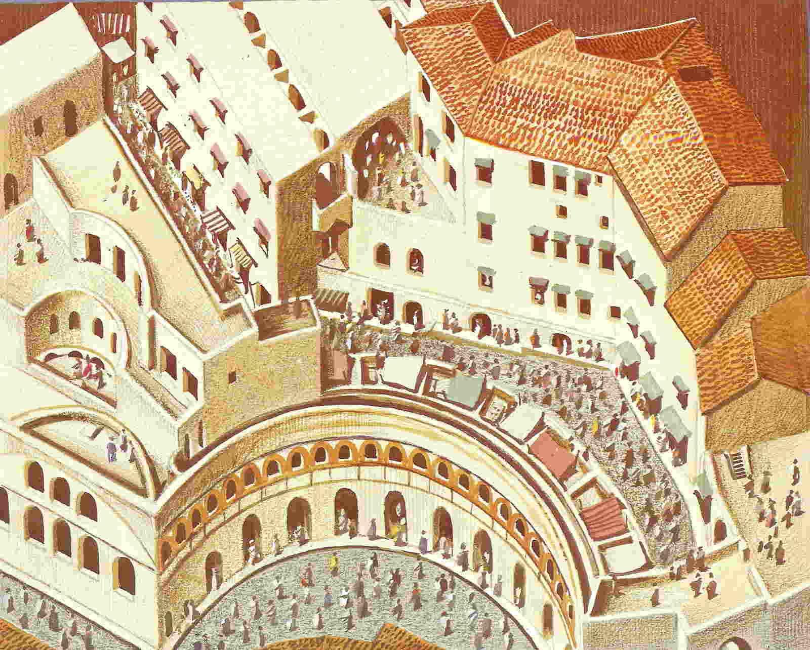 Mercado de Trajano, precursor de nuestros centros comerciales