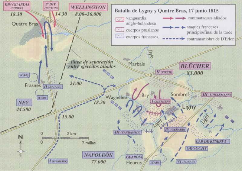 Waterloo, el ocaso de un Imperio, Ligny y Quatre Brass