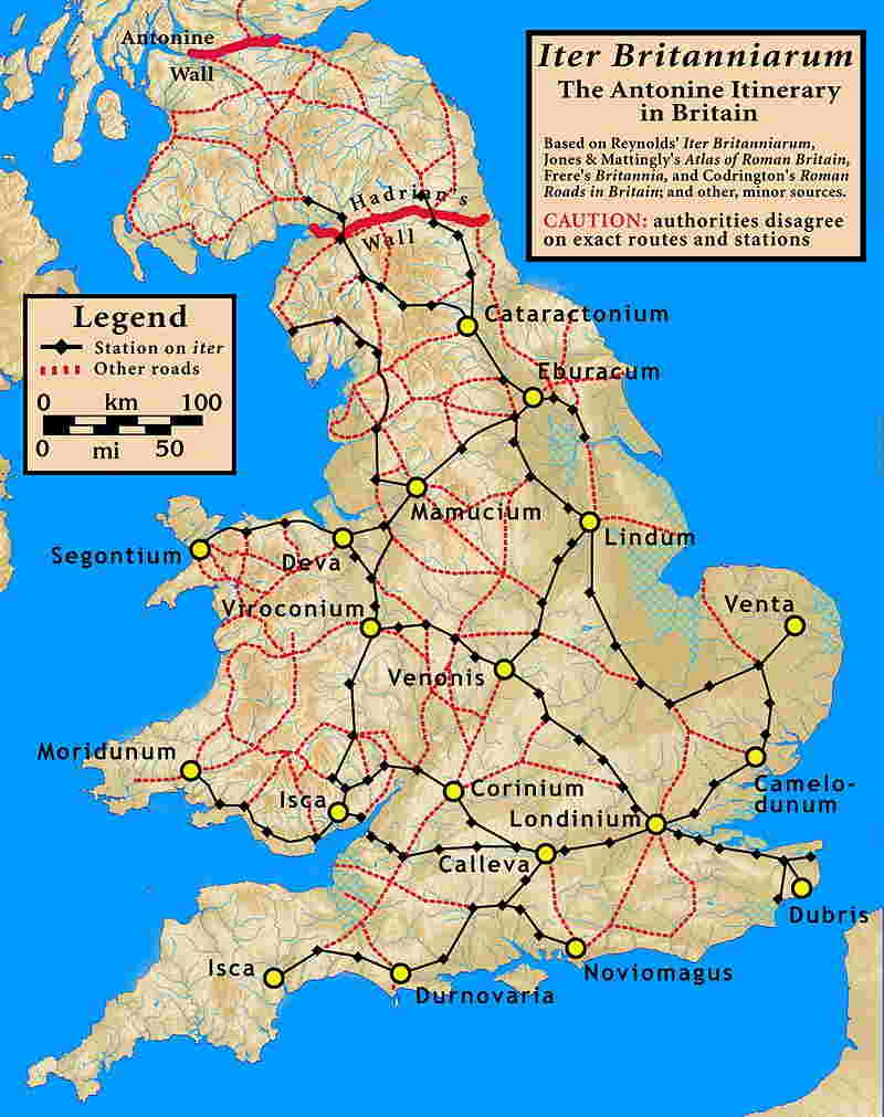 Britania: puestos romanos