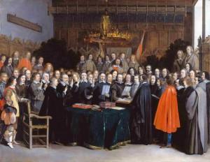 La agenda oculta de la modernidad. Firma de la paz de Westfalia en Münster