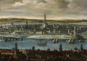 Sevilla, vista de la ciudad en el siglo XVI