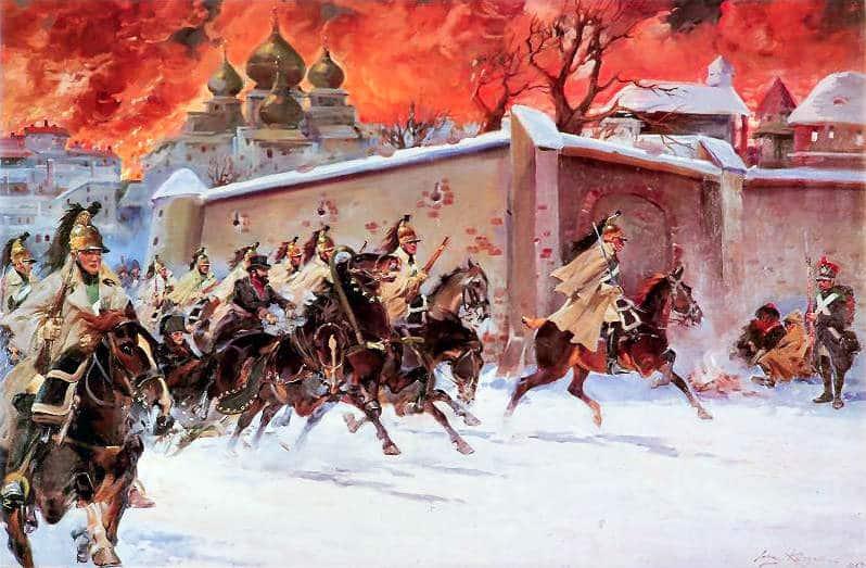 Napoleón y el Gran Incendio de Moscú