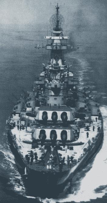 Acorazado North Carolina en 1945