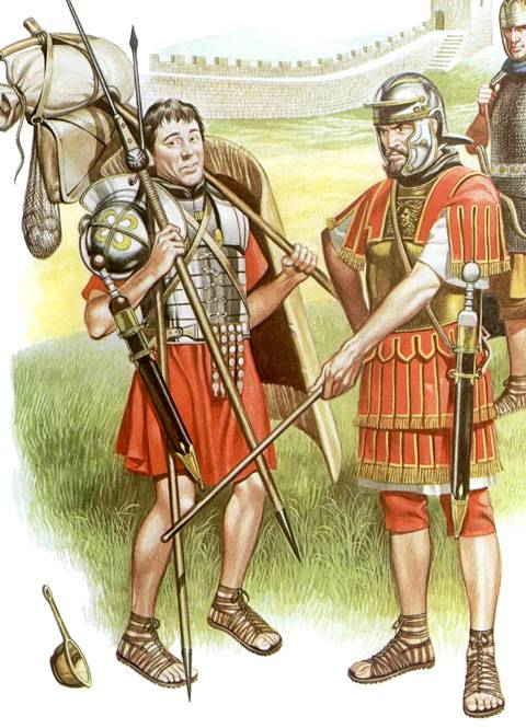 La comida de las Legiones de Roma
