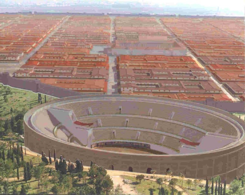 Itálica Romana en 3D