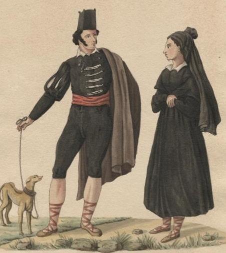 Pareja de gitanos castellanos del siglo XVIII-crop