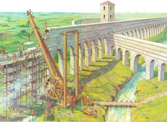 Polyspastos, las grúas de Roma