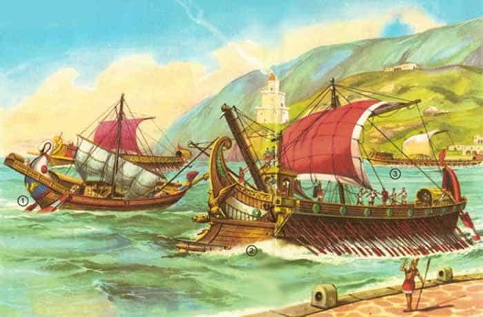 Las dos grandes bases navales del Imperio Romano