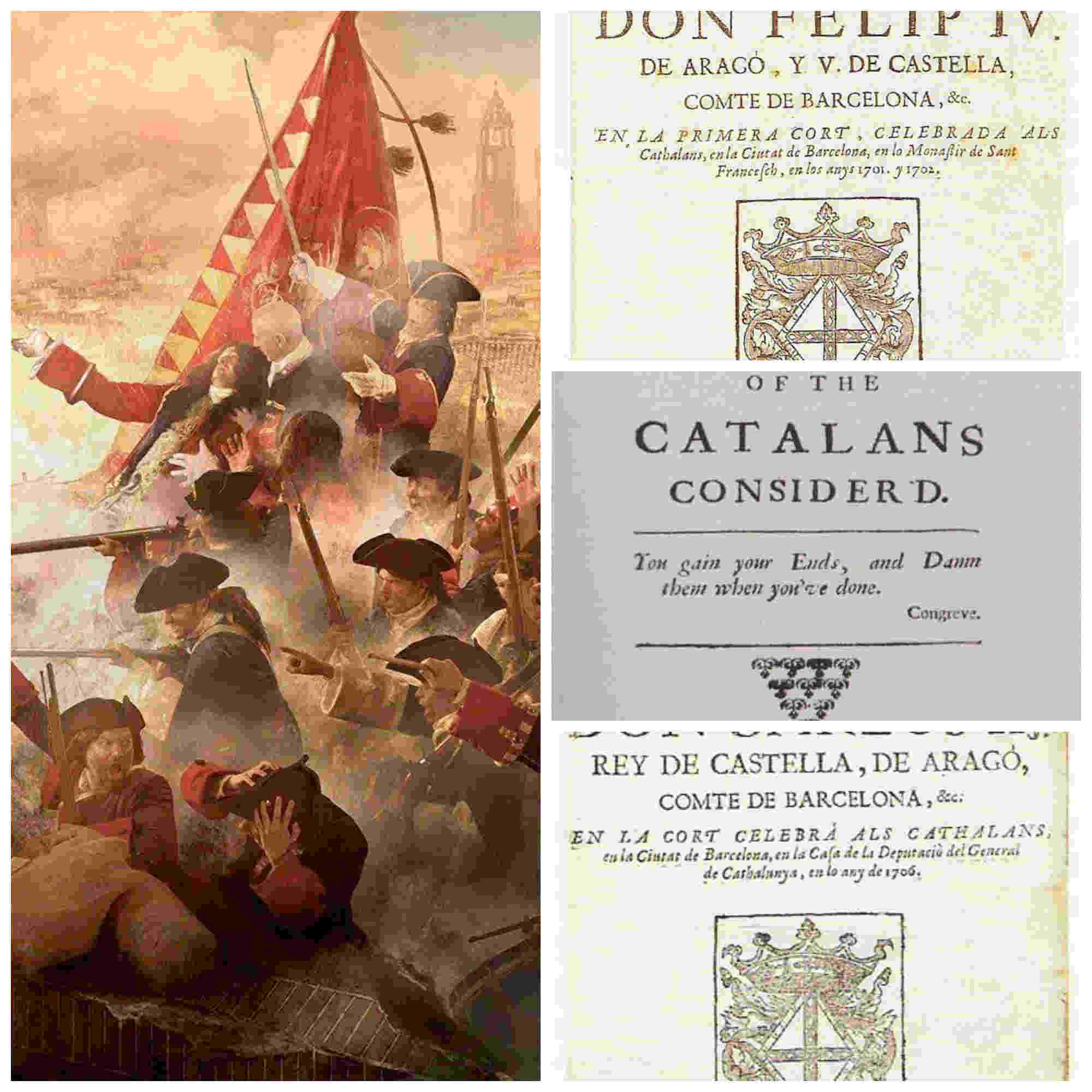 Los catalanes y la Guerra de Sucesión Española