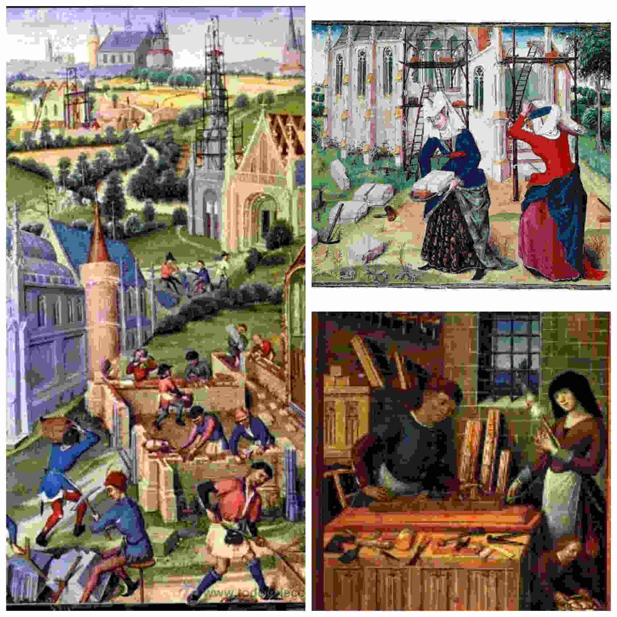 Mujeres trabajadoras en la Edad Media
