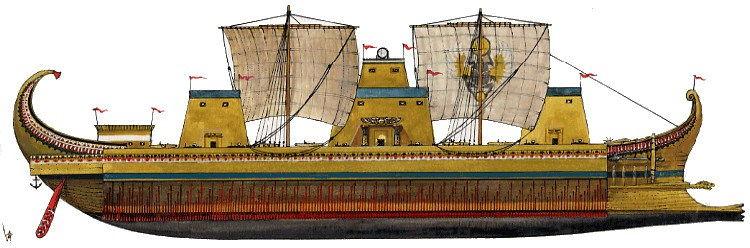 Megabarcos de la Antigüedad: El Tessarakonteres