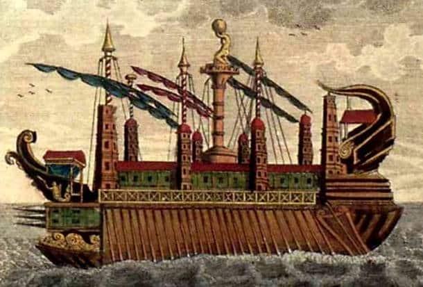 Megabarcos de la Antigüedad: El Syracusia