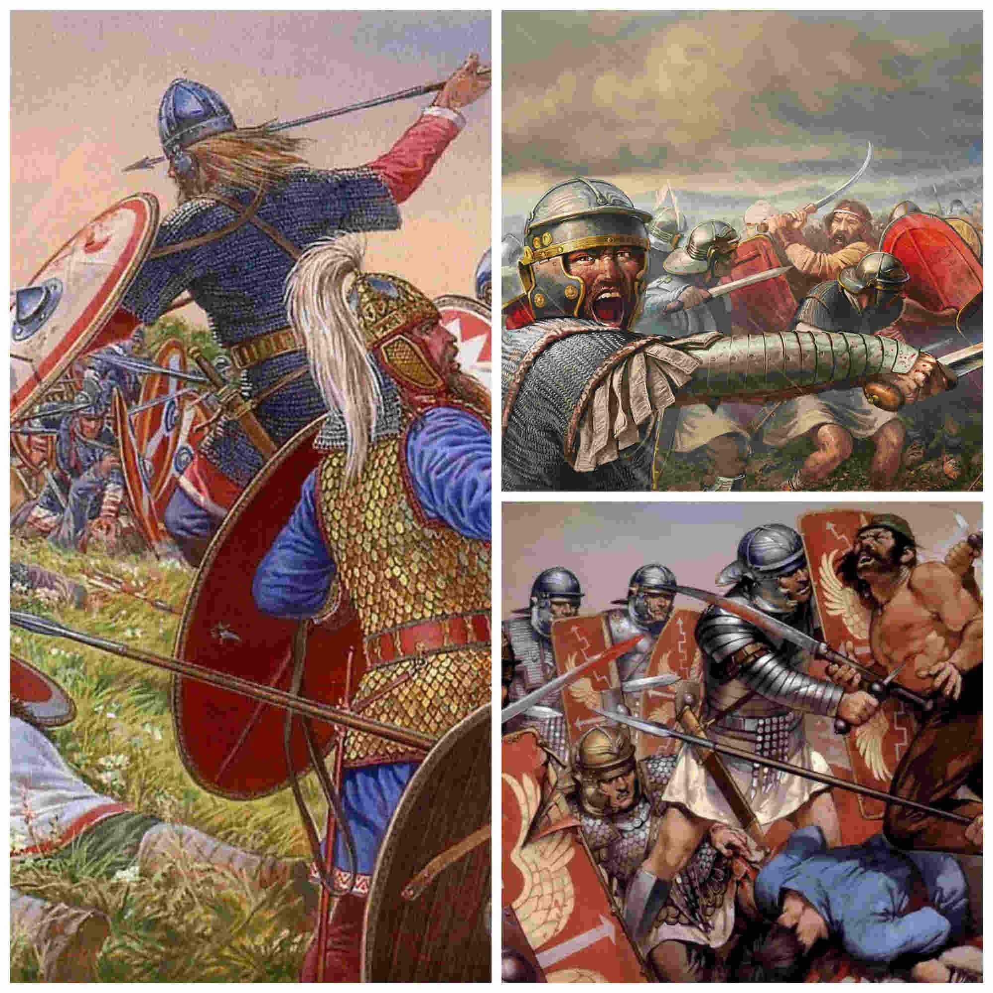 La barbarización del ejército romano