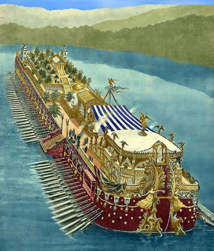 Megabarcos de la Antigüedad: Los barcos palacio de Calígula