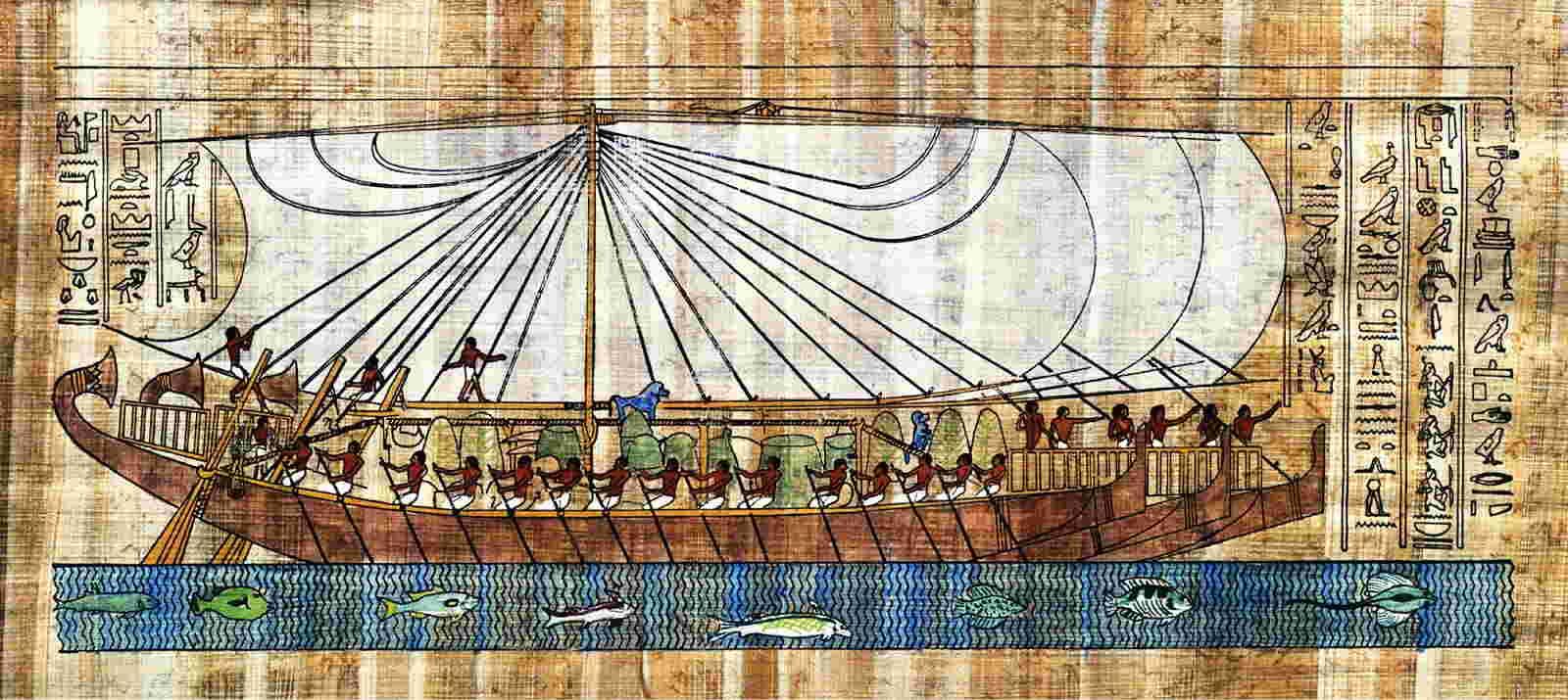 Megabarcos de la Antigüedad: Los barcos de Hatshepsup